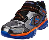 Skechers Boy's Hypersonic Gunmetal and Royal Synthetic Sports Shoes - 12 kids UK/India(30 EU)(13 US)