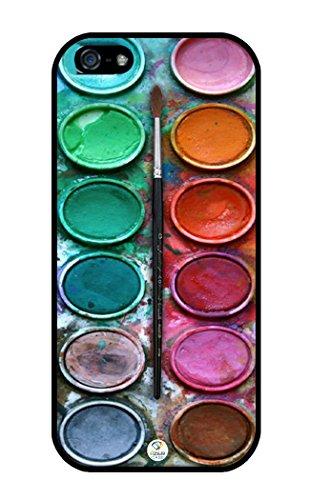 iZERCASE Colorful Watercolor Set Rubber iPhone 5/iPhone 5S Case Fits iPhone 5, iPhone 5S T-Mobile, At&T, Sprint, Verizon & International