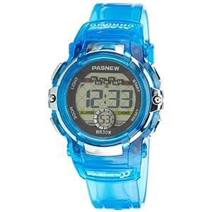 Cute LED Water-proof Sport Digital Wrist Watch for Teen Girls Boys (Blue)