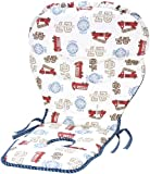 NoJo Engine 27 Reversible High Chair Cover, Ivory/Blue