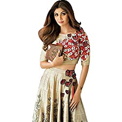 Astha bridal new party were crop lehenga (shilpa shetty butterfly lehenga e_cream_5.5)