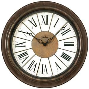Bulova Newington Large Deco Wall Clock C4107 Home Kitchen