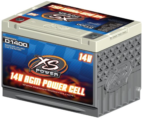 XS Power D1400 AGM Series 2400 Max Amp 675 Cranking Amp 14V Battery