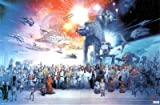 Star Wars: Episode I-VI - Movie Poster (All Characters - With Space Ships) (Size: 36 x 24) Poster Print, 34x22