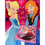 Disney Frozen Anna & Elsa Beach Towel and Tote Bag by Disney