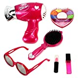 Dream Girl Pretend Play Toy Fashion Beauty Set W/ Working Hair Dryer, Assorted Beauty Accessories (Colors May...