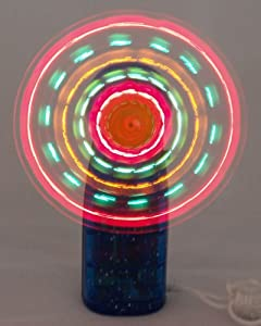 LED Mini Light-Up Handheld Personal Fan w/ Changing Patterns