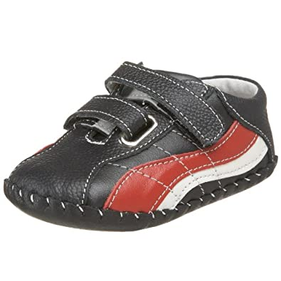 pediped Originals Zach Sneaker (Infant),Black/Red,Extra Small (0-6 Months)