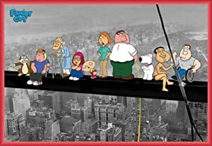 Family Guy Poster and Frame (Plastic) - Griffins On A Skyscraper (36 x 24 inches)