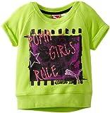 PUMA Little Girls Little Short Sleeve Graphic Sweatshirt