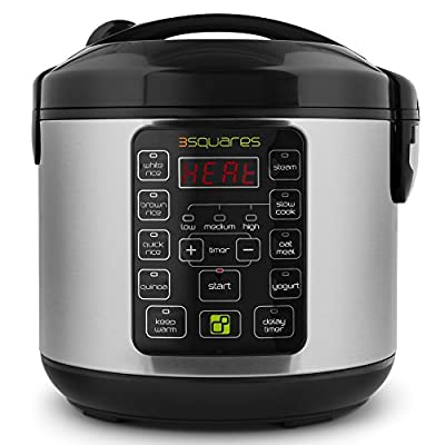 3 Squares 3RC-3010S TIM3 MACHIN3 20-Cup (Cooked) Rice Cooker and Multi Cooker, 4-Quart Capacity by 3 Squares