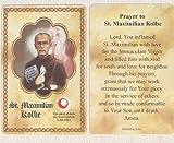 img - for St. Maximillian Kolbe Relic Prayer Card book / textbook / text book