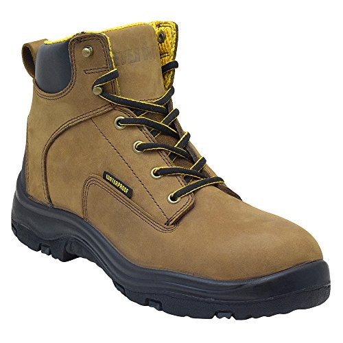 Ever Boots Men's Premium Leather Waterproof Work Boots Insulated Rubber Outsole for Hiking (13 D(M), COPPER) (Insulated Work Shoes For Men compare prices)