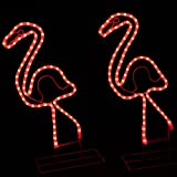 """24"""" Tropical Lighted Pink Flamingo Rope Light Outdoor Yard Art Decoration"""