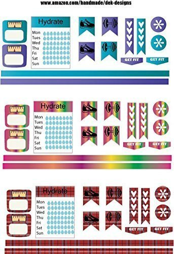 Monthly planning stickers
