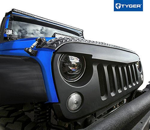 TYGER Angry Grille Shell Replacement fits 2007-2016 Jeep Wrangler JK