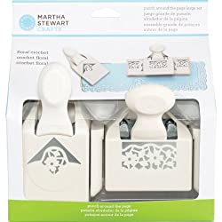 Martha Stewart Crafts Punch Around the Page Punch, Large Floral Crochet