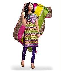 Kesar Sarees Fancy Printed Multi-Coloured Cotton Dress Material