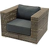 Loungestuhl Sessel El Toro Marron modulares Lounge-Konzept taupe/grau Alu-Gestell hochwertig 110x100x75
