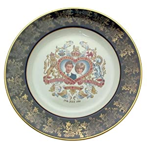 Weatherby Charles and Diana plate - Royal Wedding 1981 - Blue Border NEGR234