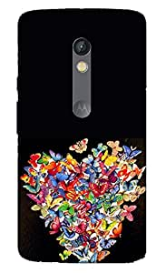 Ziddi Premium Quality Designer Printed 3D Lightweight Slim Matte Finish Hard Case Back Cover for Moto X Play