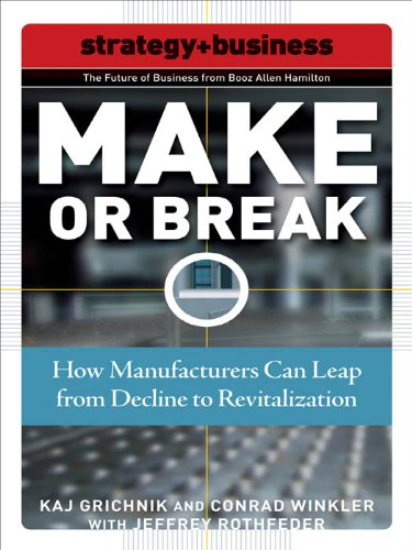 Make or Break : How Manufacturers Can Leap from Decline to Revitalization (Future of Business Series)