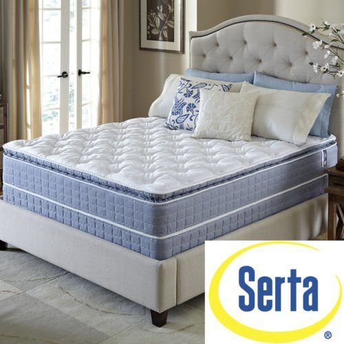 Serta Revival Pillowtop Queen Size Mattress And Foundation Set, Luxury Bedding And Mattresses
