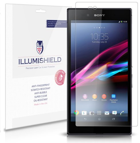 Illumishield - Sony Xperia Z Ultra Screen Protector Japanese Ultra Clear Hd Film With Anti-Bubble And Anti-Fingerprint - High Quality (Invisible) Lcd Shield - Lifetime Replacement Warranty - [3-Pack] Oem / Retail Packaging