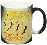 3dRose La Troupe De Mlle Eglantine by Toulouse-Lautrec Magic Transforming Mug, 11-Ounce