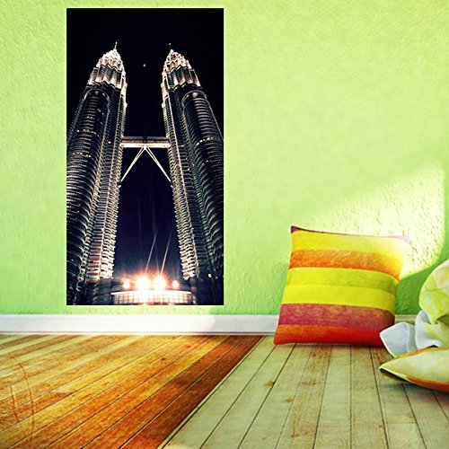 Petronas tower wandbild 95 x 181 cm wandsticker for Wohndeko modern