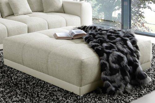 Riesiger Hocker zu XXL Sofa Big SAM in Trendfarbe Greige thumbnail