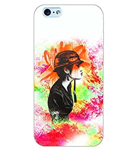 PrintDhaba HAT GIRL D-7041 Back Case Cover for APPLE IPHONE 6 PLUS (Multi-Coloured)