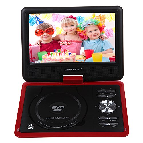 """DBPOWER 9.5"""" Portable DVD Player with Swivel Screen, Support"""