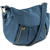 Travelon Anti-Theft Front Zip Hobo Bag with RFID Protection (Multiple Colors)