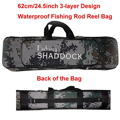 62CM/24.4-Inch Oxford Fishing Rod Reel Bag Case Travel Organizer Tackle Tool Gear Storage Bag (Fishing Push Pole compare prices)