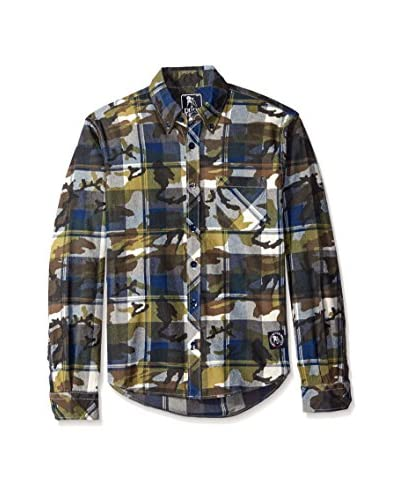 PRPS Goods & Co. Men's Printed Long Sleeve Flannel