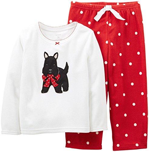 Carter's Baby Girls' 2 Piece Holiday PJ Set (Baby) - Scottie - 12 Months