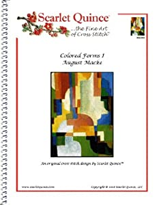 Colored Forms I - August Macke: Counted Cross Stitch Chart (Regular size symbols)