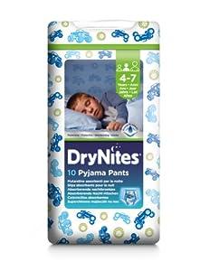 Huggies DryNites Boys Pyjama Pants - Age 4-7 (38-66 lbs/17-30 kg), 3 x Packs of 10 (30 Pants) (Design Varies)