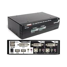 Startech.com - sv231uadvi - 2port dvi usb kvm switch w/audio