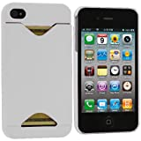 White Credit Card ID Case for Apple iPhone 4, 4S (AT&T, Verizon, Sprint)