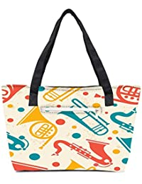 Pack Of 2 Pipe Set Combo Tote Shopping Grocery Bag With Coin Pencil Purse
