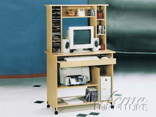 Buy Low Price Comfortable New Maple Finish Computer Desk ACS008012 (B004SPGC50)