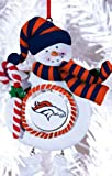 Denver Broncos Jolly Christmas Snowman Ornament