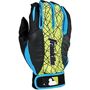 Buy Franklin Sports MLB 2nd-Skinz Batting Gloves Pair, Black Blue Yellow - Youth Small by Franklin