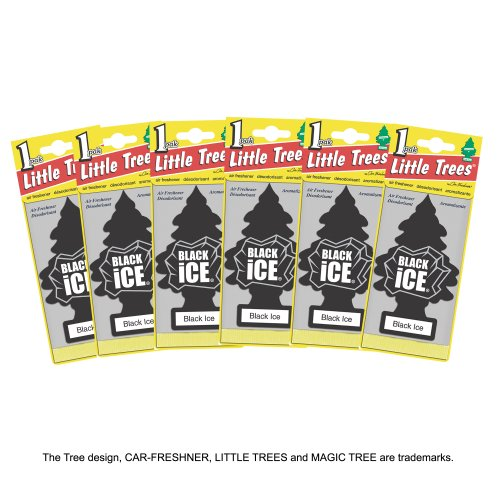 LITTLE TREES Air Fresheners Black Ice (6 Pieces)