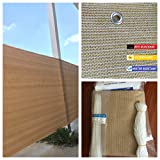 Privacy Screen Fence Mesh Windscreen Backyard Deck Patio Balcony Beige (35'' X 5' to 15')