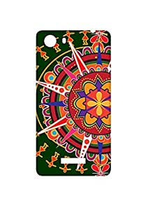 VDESI Designer Matte Finish Plastic Back Cover For Micromax Unite 3 (Q372)- Rangoli (Grn)