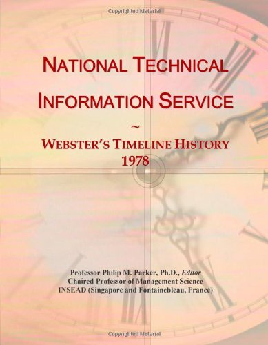 National Technical Information Service: Webster'S Timeline History, 1978