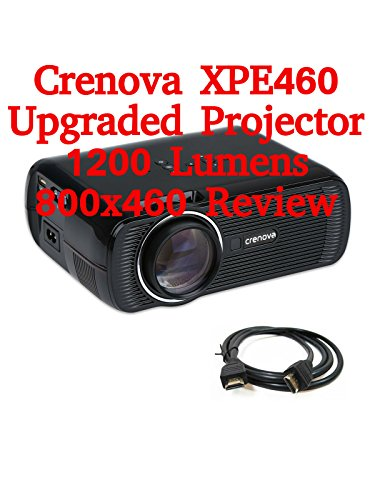 Review: Crenova XPE460 Upgraded Projector 1200 Lumens 800x460 Review
